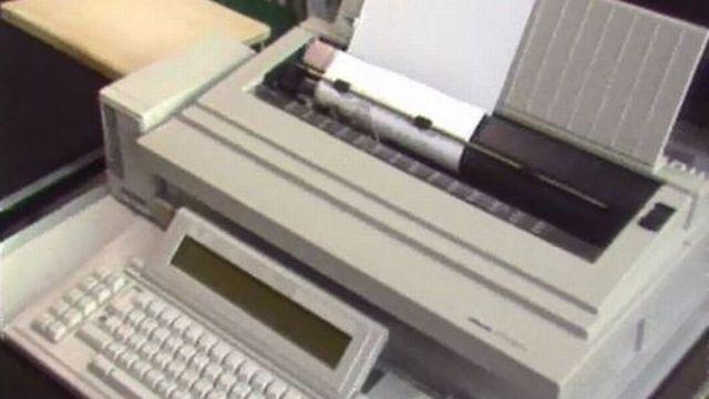 C'est la fin de la période des machines à écrire. [RTS]