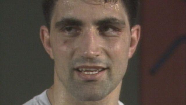 Le boxeur Enrico Scacchia. [RTS]