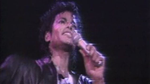 Le roi de la pop en concert au stade de la Pontaise à Lausanne. [RTS]