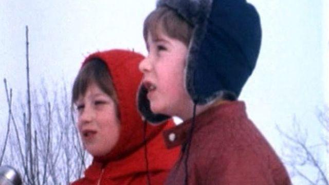 Deux enfants ont assisté à une chasse au renard.