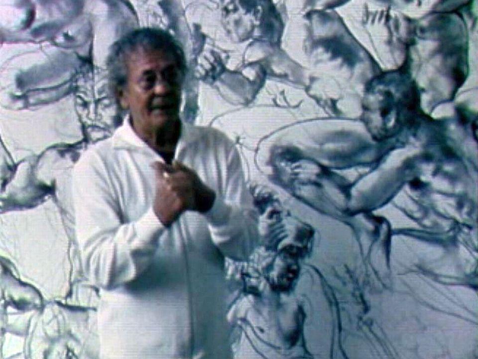 Le sport a toujours inspiré Hans Erni. Interview dans son atelier.