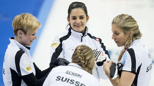Une nouvelle médaille pour Binia Feltscher (de face) et ses copines? [Jean-Christophe Bott - Keystone]