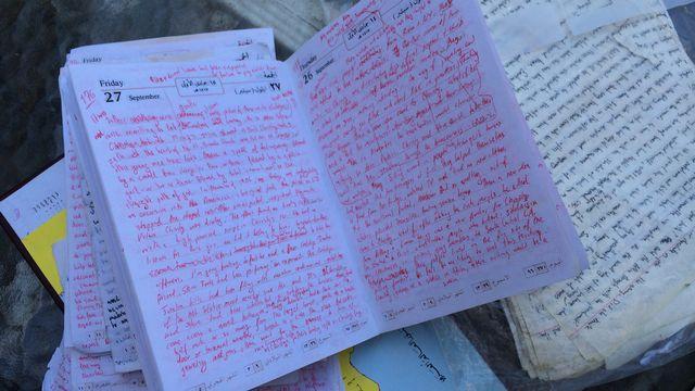 Theo Padnos a écrit des pages et des pages durant ses 22 mois de captivité en Syrie. [Philippe Revaz - RTS]
