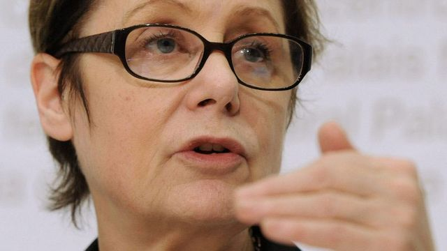 Martine Brunschwig Graf, présidente de la Commission fédérale contre le racisme. [Lukas Lehmann - Keystone]