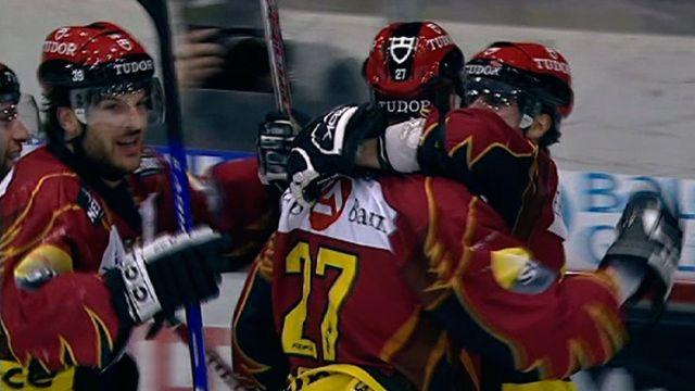 Le Genève Servette HC atteint la finale des play-offs en 2008. [RTS]