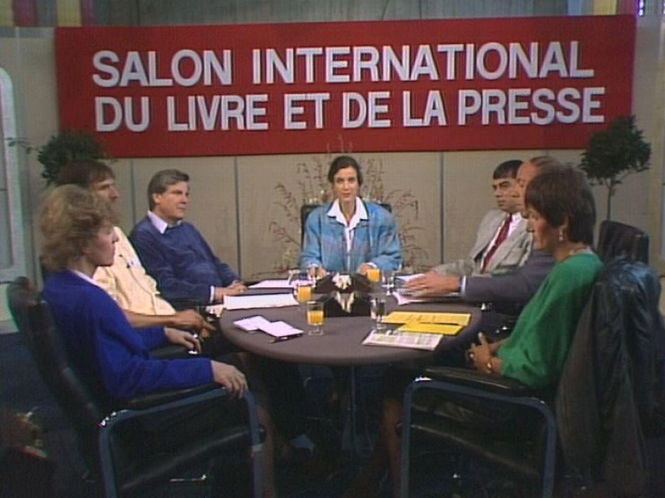 Le 1er Salon du Livre à Genève, 1987. [RTS]