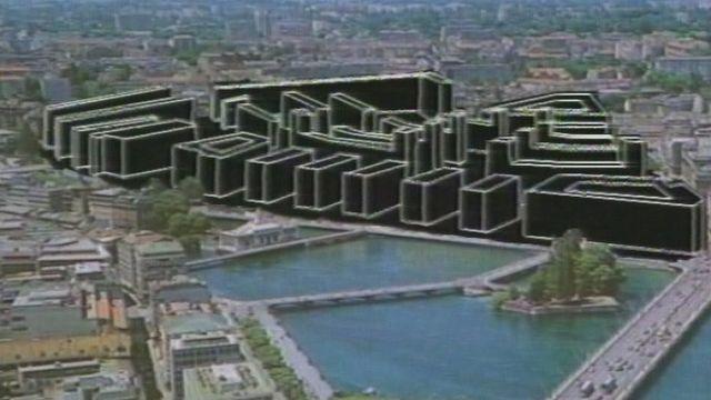 Projet Le Corbusier pour Genève. [RTS]