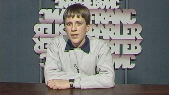 Julien Perrot en 1987. [RTS]
