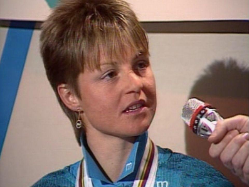 Un sans faute pour Erika Hess qui décroche le slalom spécial. [RTS]