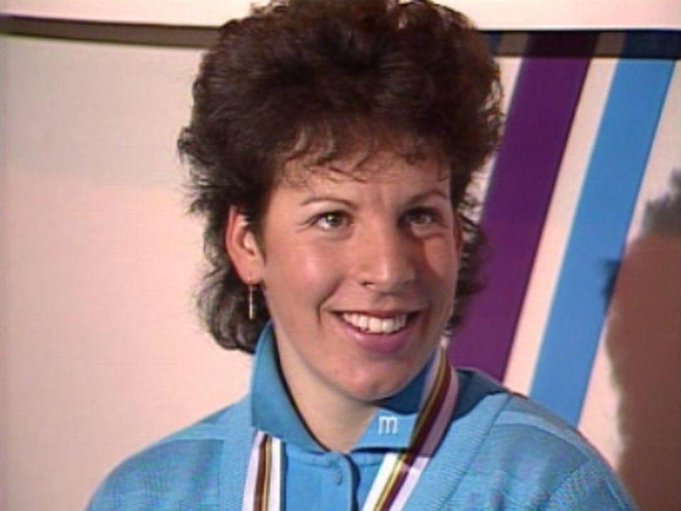 La Suissesse a remporté la course et Maria Walliser est 3e. [RTS]