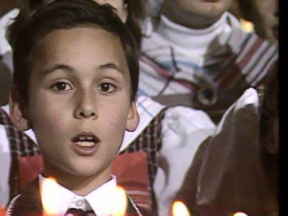 Choriste de la Maîtrise de Saint-Pierre-aux-Liens de Bulle en 1986. [TSR]