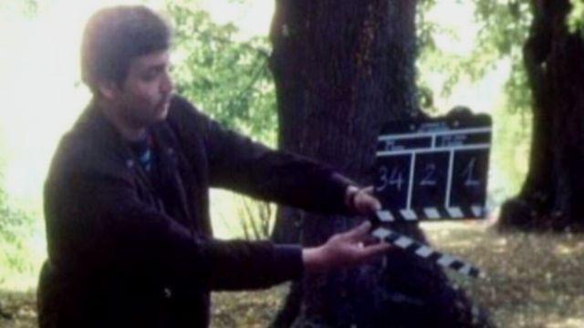 Tournage d'un téléfilm de la Télévision suisse romande, 1986. [RTS]