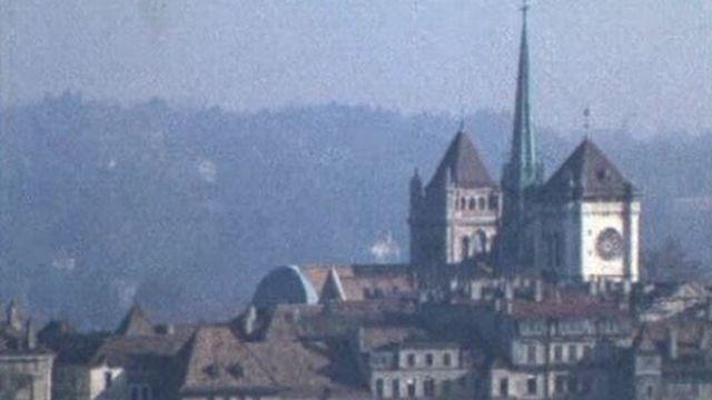 Le panorama depuis le sommet de la tour TSR. [RTS]