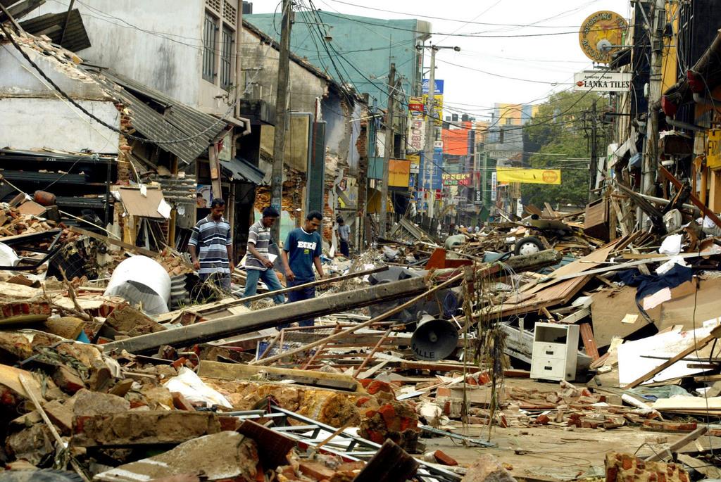 apres le tsunami au sri lanka