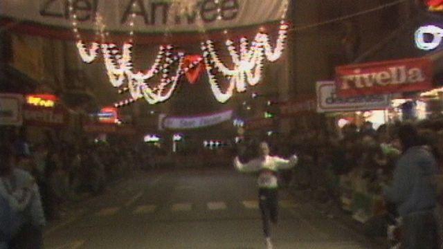 Markus Ryffel remporte la course de Noël à Sion en 1987. [RTS]