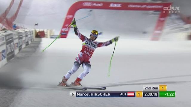 Géant messieurs, 2ème manche: Marcel Hirscher (AUT) remporte sa deuxième victoire de la saison [RTS]