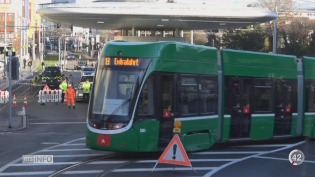 La ville de Bâle est désormais reliée à l'Allemagne par une ligne de tram [RTS]