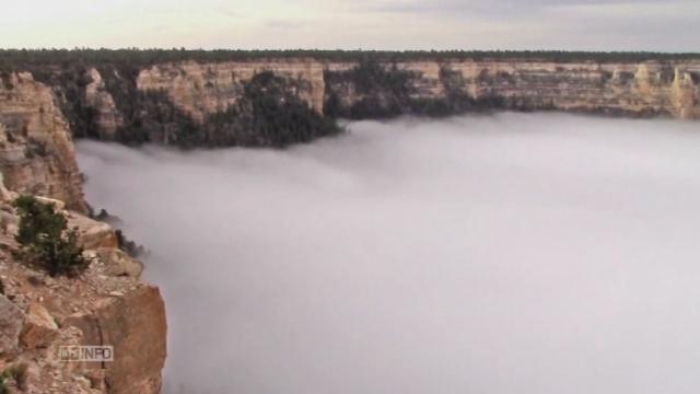 Images isolites du Grand Canyon sous une mer de nuage [RTS]