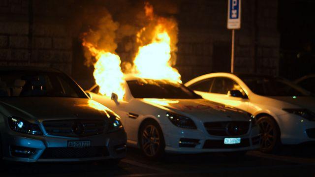 La nuit de vendredi à samedi fut très violente à Zurich. [Jan Mueller - Keystone]