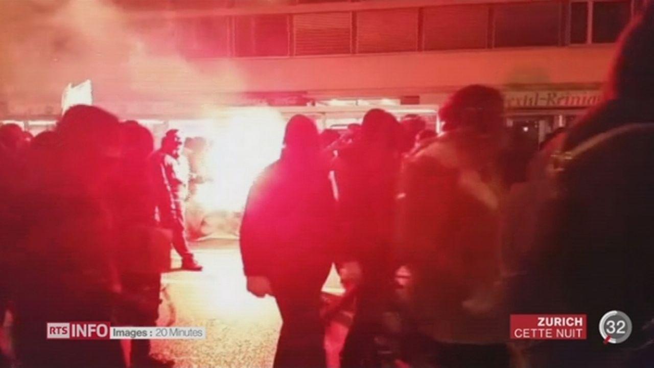 Des émeutiers ont attaqué les forces de l'ordre à Zurich et saccagé le centre-ville [RTS]
