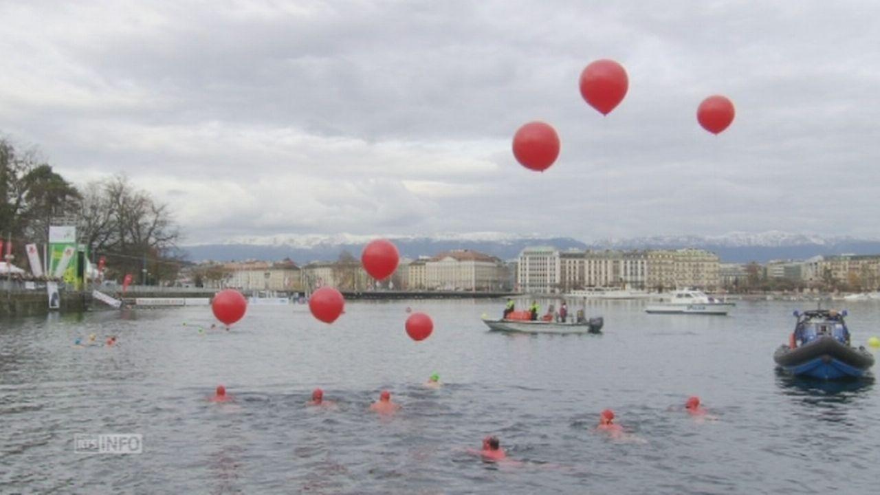 Près de 1500 courageux pour la Coupe de Noël à Genève [RTS]