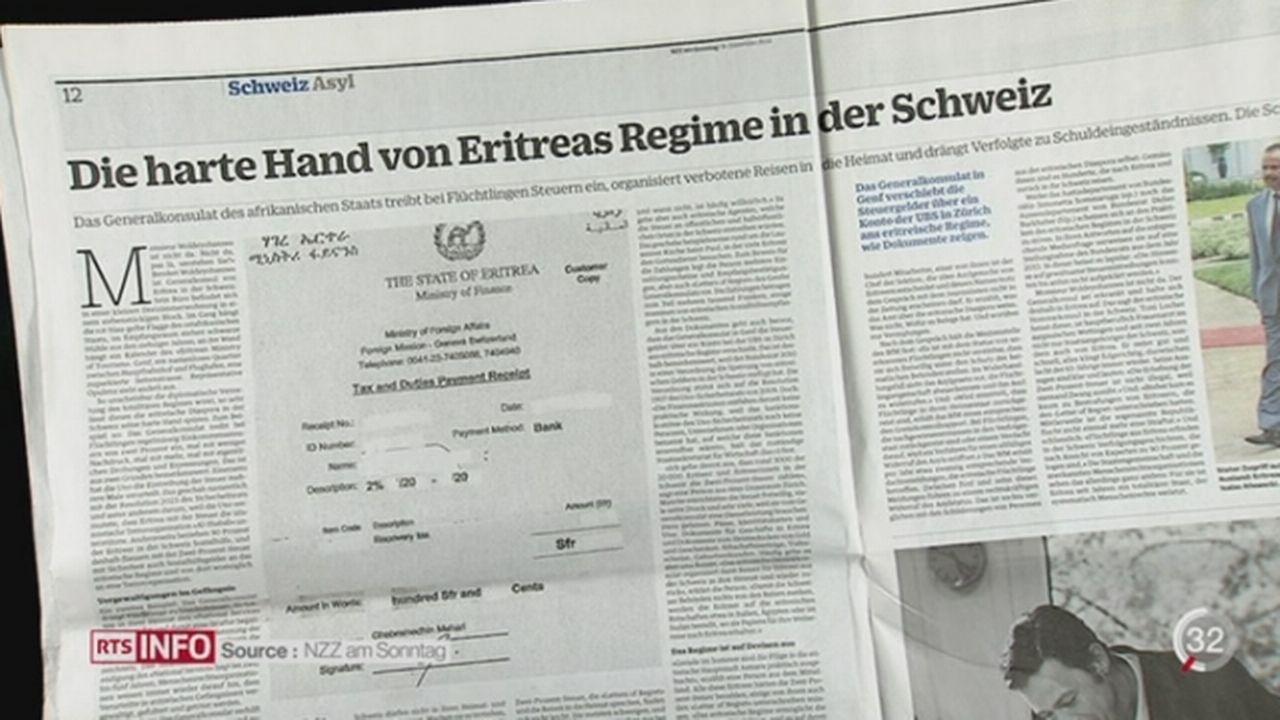 Le Consulat général d'Érythrée, à Genève, prélèverait 2% des revenus de leurs citoyens travaillant en Suisse [RTS]