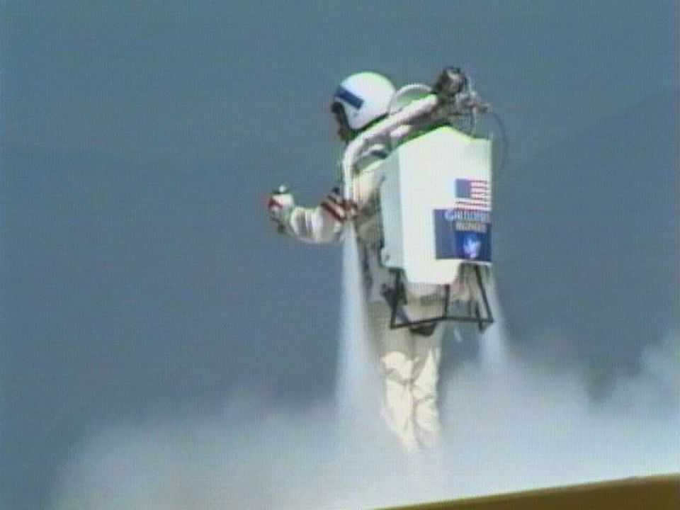 Rocket Man au Meeting de Bex 1985. [RTS]