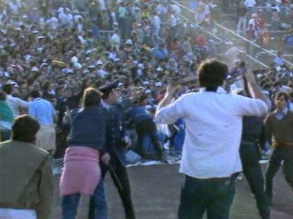 Le drame du Heysel, filmé par les caméras de la TSR. [RTS]