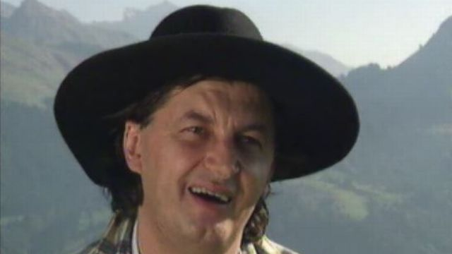 Le chef Marc Veyrat en 1997. [RTS]
