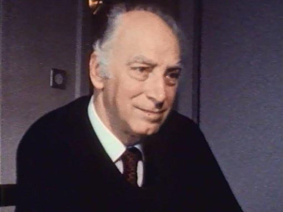 Portrait du compositeur fribourgeois par Michel Soutter. [RTS]