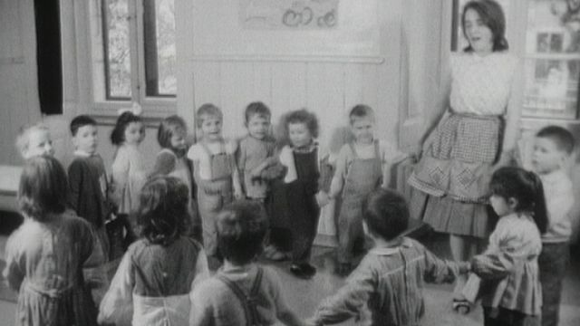 La crèche de l'Amitié en 1963. [RTS]