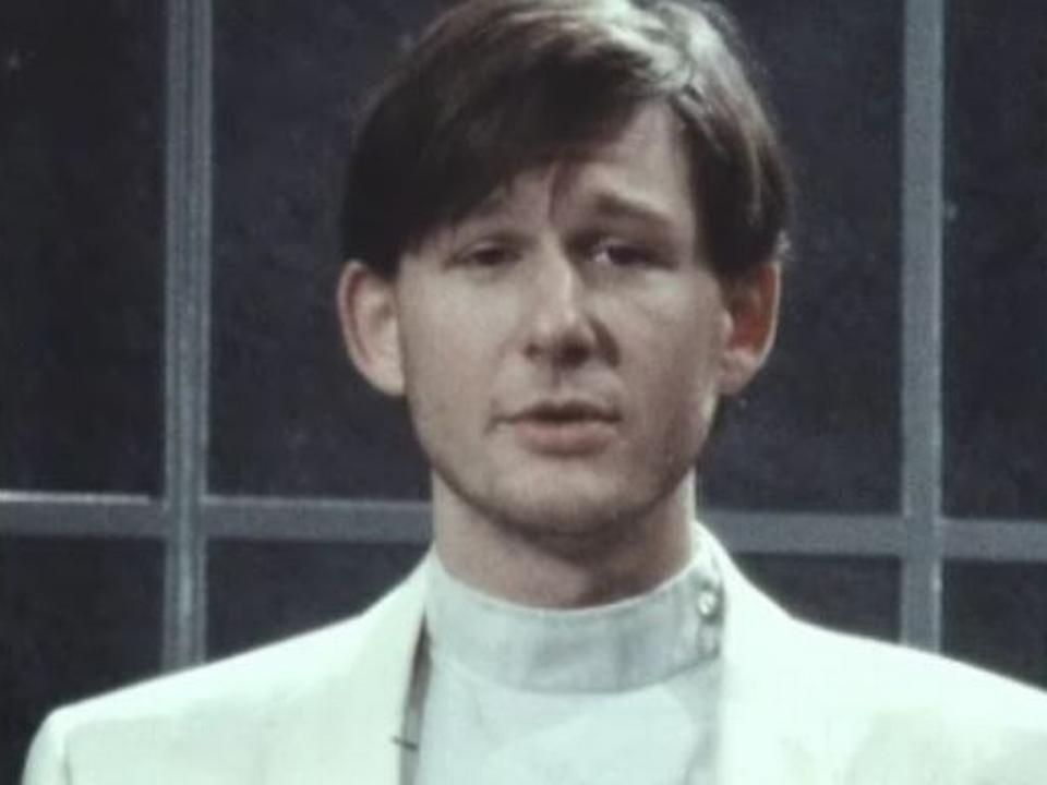Le comédien genevois Jean Quentin Châtelain en 1986. [RTS]