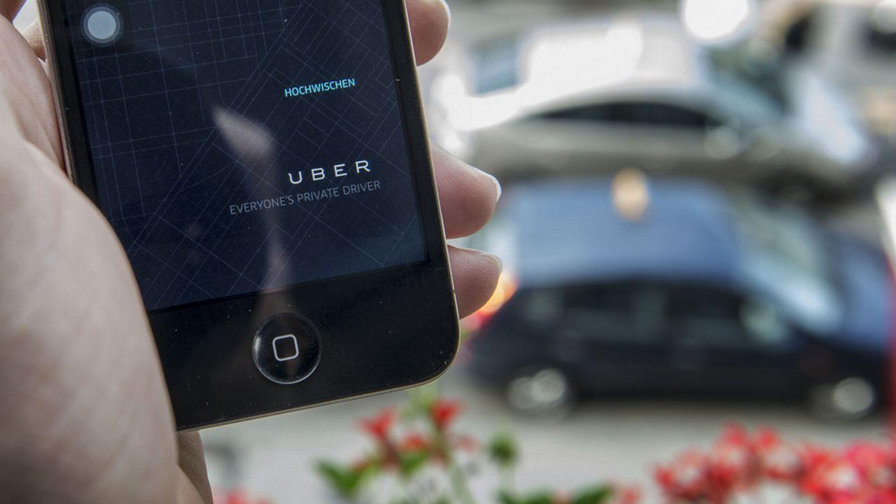 La société de voiturage Uber fait polémique à Genève et dans le monde. [Christian Beutler - Keystone]
