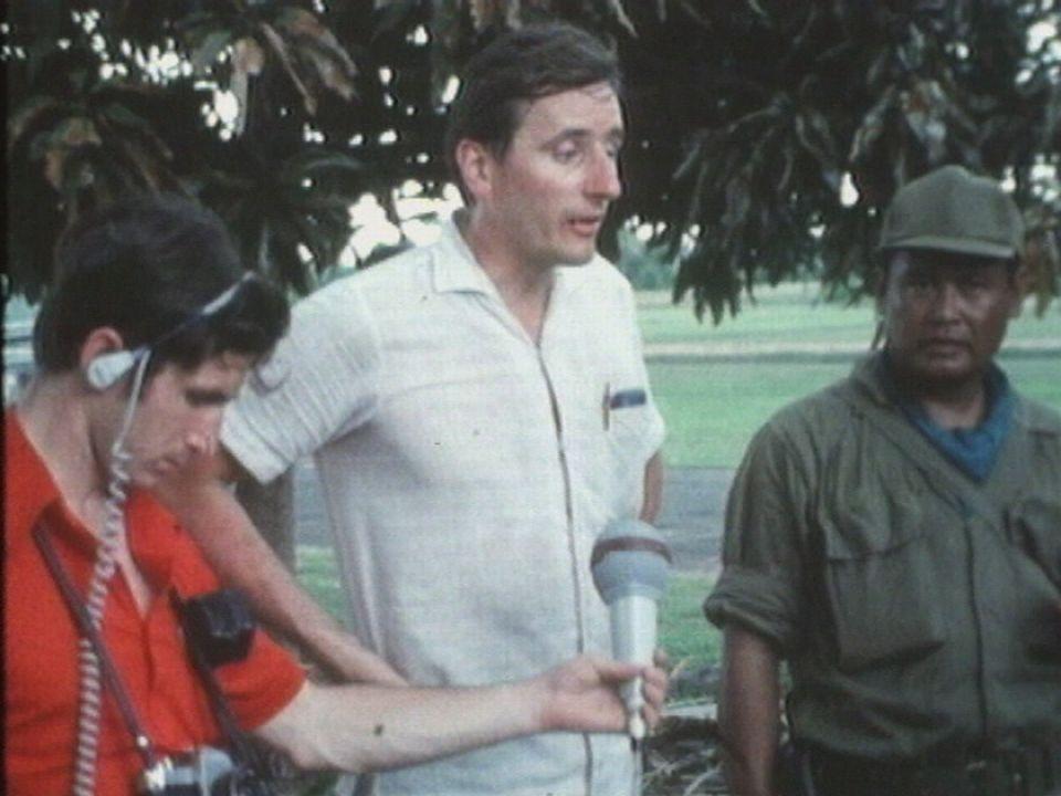 Guy Ackermann, journaliste de guerre au Cambodge en 1970. [RTS]