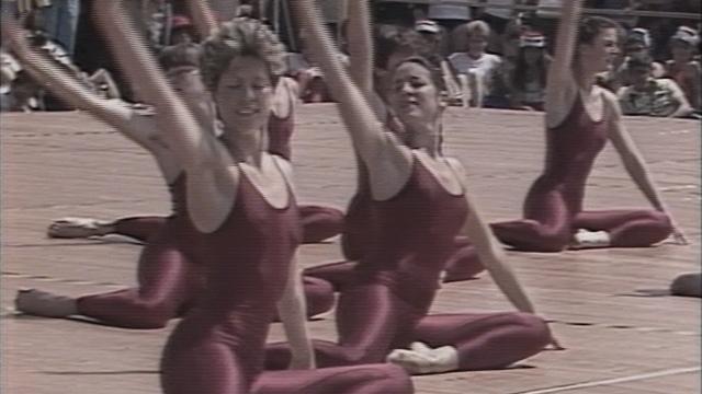 Journées de gymnastique féminine à Wintherthour en 1984. [RTS]