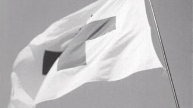 Le drapeau CICR. [RTS]