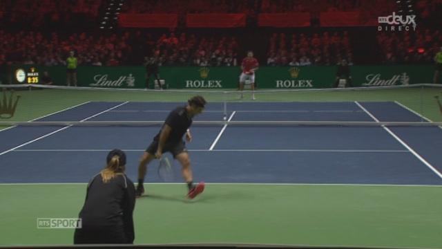 Federer - Wawrinka (6-5): les plus beaux coups du premier set remporté au tie-break par Federer [RTS]