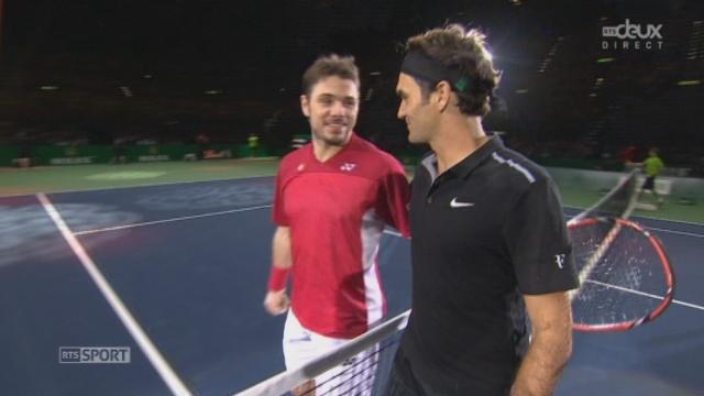 Federer - Wawrinka (7-6, 6-4): Roger remporte ce beau duel suisse. Meilleurs moments du 2e set [RTS]