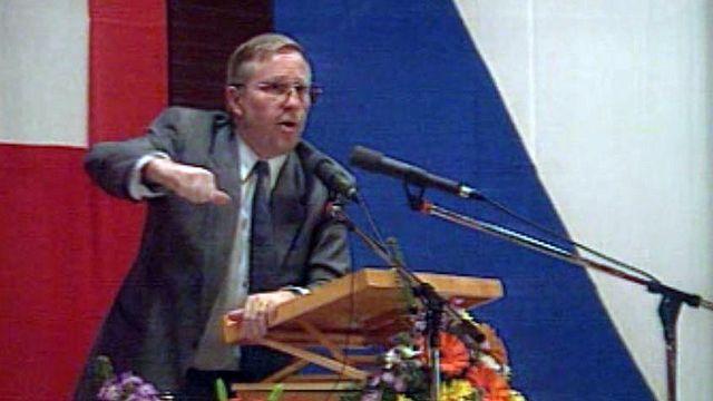 Christoph Blocher est devenu le chef de l'opposition à l'Europe.