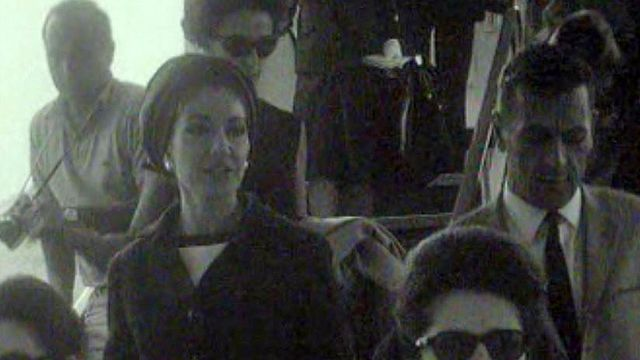 Maria Callas à l'aéroport de Cointrin, en 1966. [RTS]