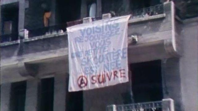 Les squatters du quartier de la Servette à Genève. [RTS]