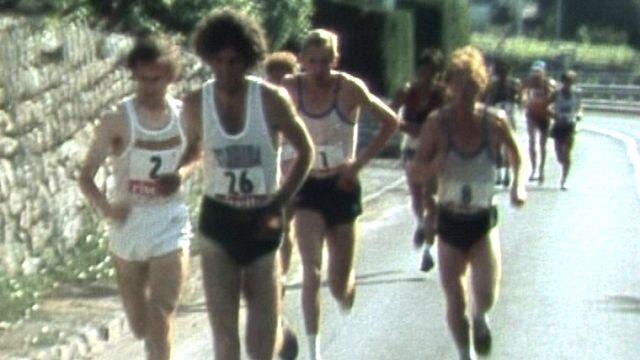 Sierre - Montana en course à pied en 1983. [RTS]