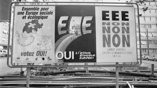 Doit-on remercier les Alémaniques pour le non à l'EEE ? [Keystone]