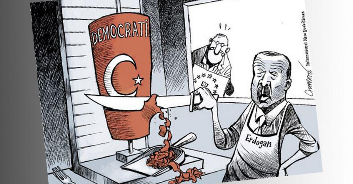 Brandir un dessin de Chappatte est mal vu dans la Turquie d'Erdogan -  rts.ch - Monde