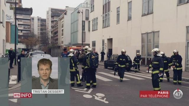 Le siège du journal satirique Charly Hebdo en plein centre de Paris a été la cible d'une attaque [RTS]