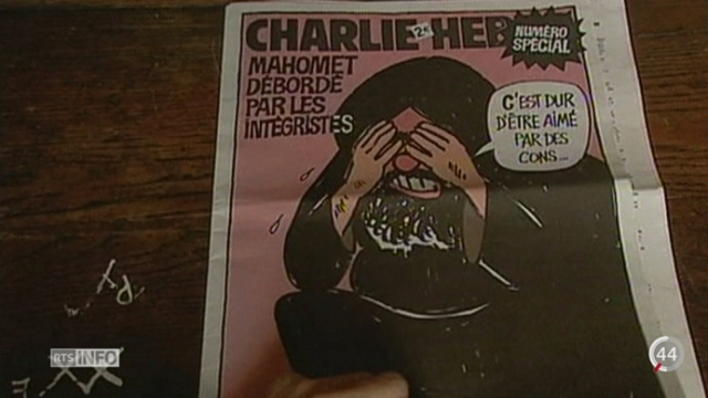 Attentat contre Charlie Hebdo: ce drame fait suite à une série d'actes de terreur tentés ou aboutis dans l'affaire des caricatures de Mahomet [RTS]