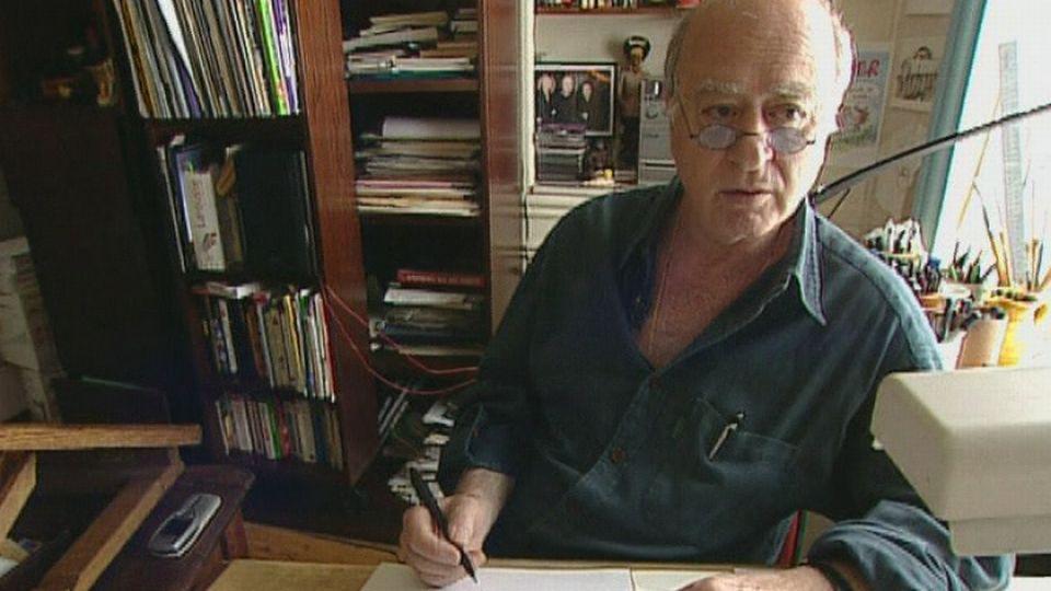 Georges Wolinski, dessinateur. [RTS]