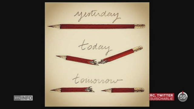 Attentat à Charlie Hebdo: les dessinateurs de presse ont rendu hommage à leurs confrères [RTS]
