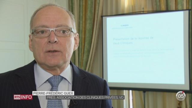 VD- Projet de réduction des coûts de la santé dans les cliniques: la réaction de Pierre-Frédéric Guex, président de l'association des cliniques privées [RTS]