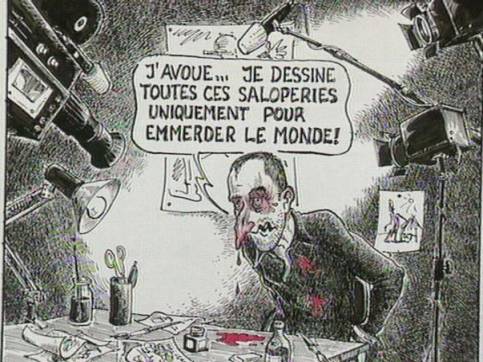 Les forçats de la mine, un dessin de Jean-Louis Baume, dessinateur de La Tuile. [RTS]